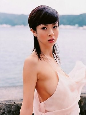 Aki Hoshino petite Japanese girl with nice big breasts